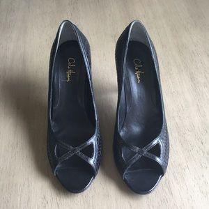 NWOT Cole Haan Black Peep-toe Heels Size 7.5